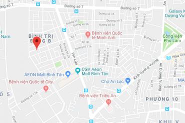 Bán nền biệt thự MT đường Số 1, P. Bình Trị Đông B, 10 x 20m, giá 25 tỷ. khu Tên Lửa gần Aeon Mall